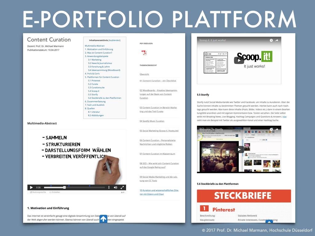 E-Portfolio Plattform