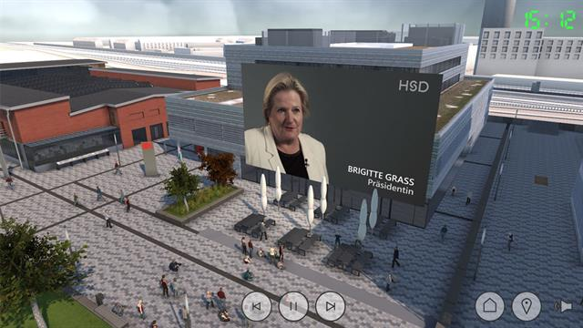 Virtual Campus Screen