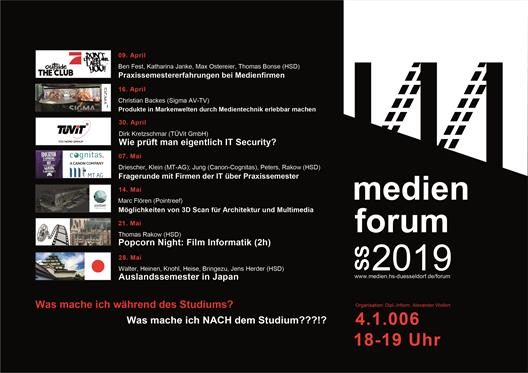 medienforum Sommersemester 2019